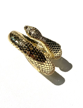 BECKER MINTY Vintage Whiting & Davis Gold Toned Mesh Snake Bracelet