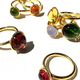 Adeler Jewelers Jorge Adeler - 18ct Yellow Gold with Gold Green Tourmaline Cabochon 2.73ct Ring