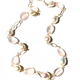 BECKER MINTY Mattia Mazza Long Strand Rose Quartz and Freshwater Baroque Pearl Necklace - 14ct Yellow Gold - Made in Italy