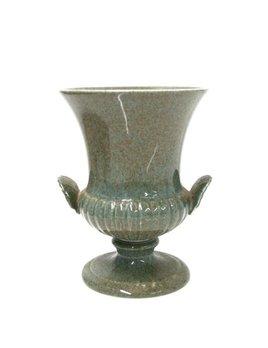BECKER MINTY Vintage Wedgwood - Urn/vase - 13.5cm - green/grey speckles - UK c.1965