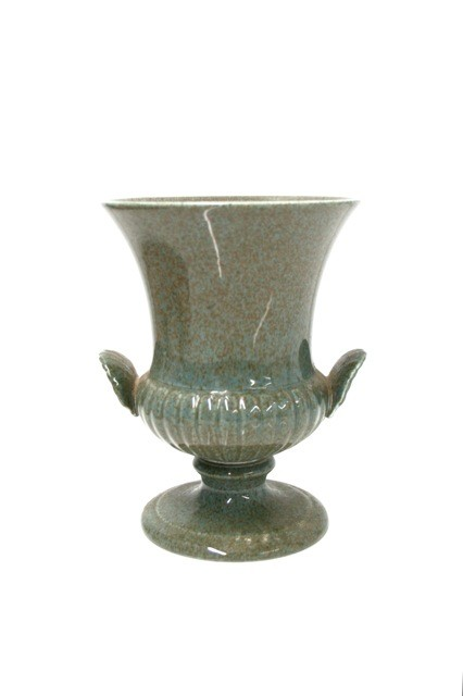 BECKER MINTY Vintage Wedgwood - Urn/vase - 13.5cm - green/grey speckles - UK c.1965