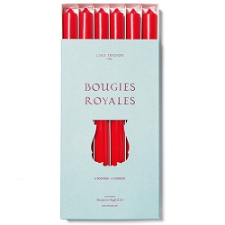 Cire Trudon Cire Trudon Royales Taper Candles - Box of 6 - Red - 28cm