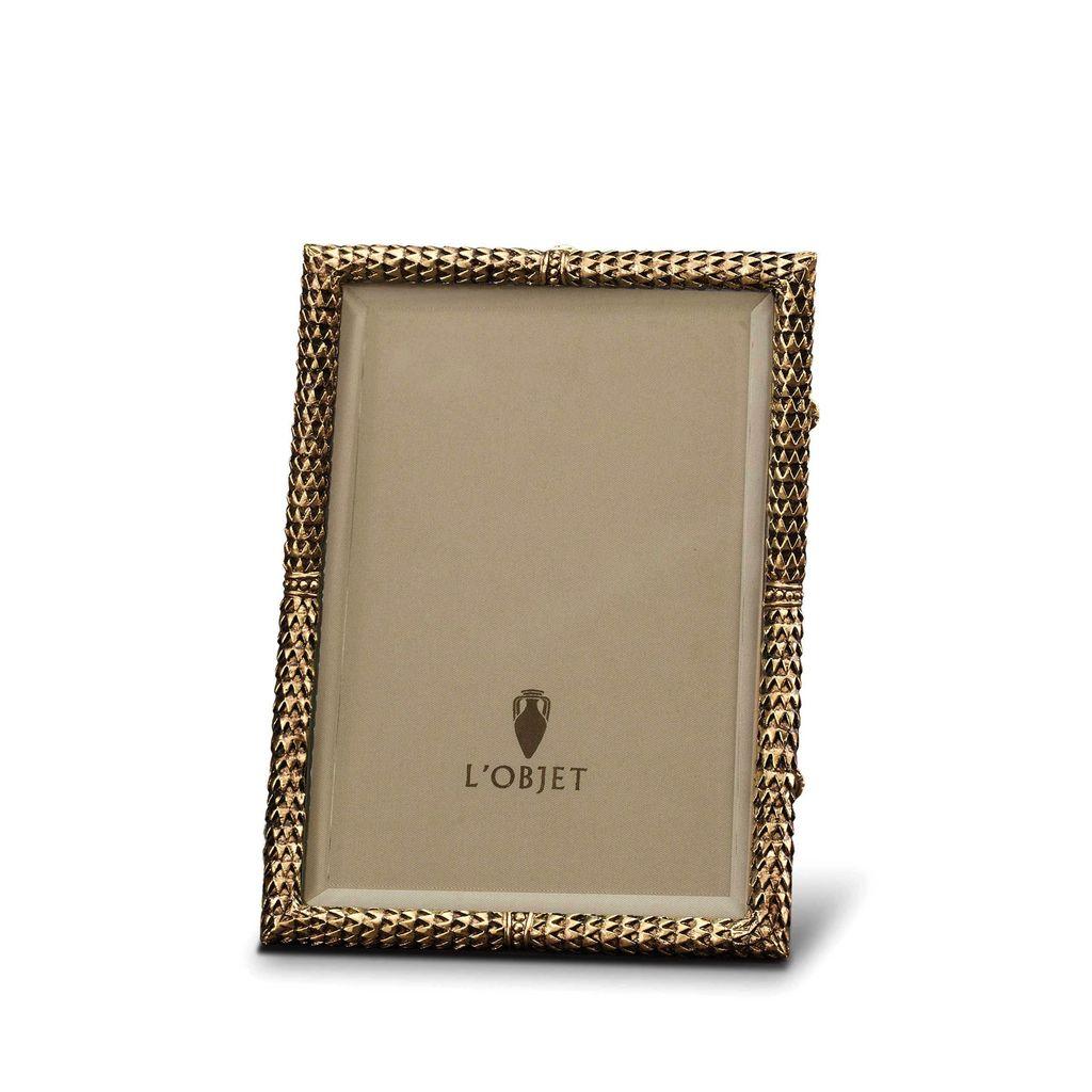 "L'Objet L'Objet - Scales Frame - 24ct Gold Plated - 4x6"""