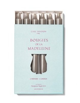 Cire Trudon Cire Trudon Madeleine Taper Candles - Boxed set of 6 - Pewter - 20cm
