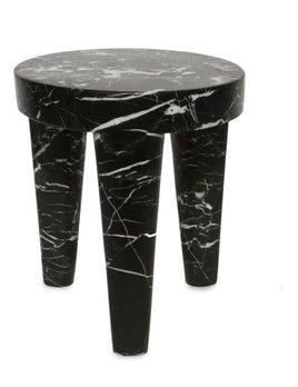 Kelly Wearstler Kelly Wearstler - Large Tribute Stool - Negro Marquina Marble  - 38x46cm