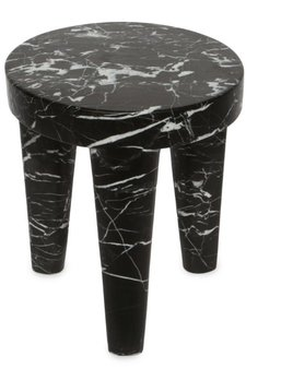 Kelly Wearstler Kelly Wearstler - Small Tribute Stool - Negro marquina marble <br />