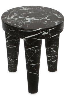 Kelly Wearstler Kelly Wearstler - Small Tribute Stool - Negro marquina marble <br />- 30.5x38cm