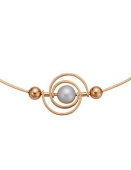 martha seely Martha Seely Design - INSPIRO Two Tone Single Spiral Pearl Necklace.