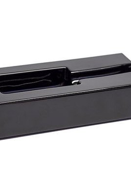 BECKER MINTY Black Crystal Rectangular Cigar Ashtray - Made in Italy