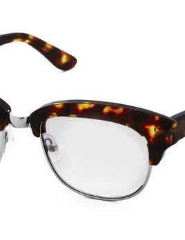 Nick Campbell Eyewear - Condor - Tortoise Spectacles with Clear Lenses