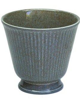 Vintage Wedgwood - Thistle vase - Green Grey Speckles - 8cm  - unusual colour - UK c.1960