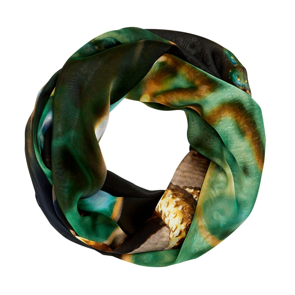BECKER MINTY Mr.MINTY x GOOD&Co Scarf - #Green&Gold - 100% Silk - 160x130cm