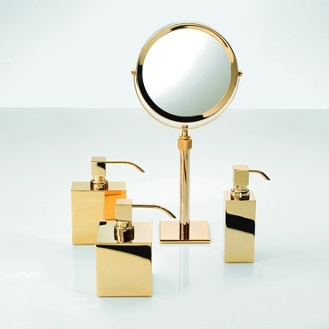 DW - Soap Dispenser Pump - Rectangular - Gold - 9.5x4.5x15cm - Germany