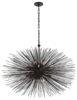Kelly Wearstler Kelly Wearstler - Strada Medium Oval Pendant in Aged Iron
