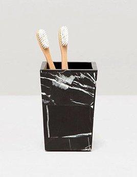 RHODES - Brush Holder -  Nero Marble