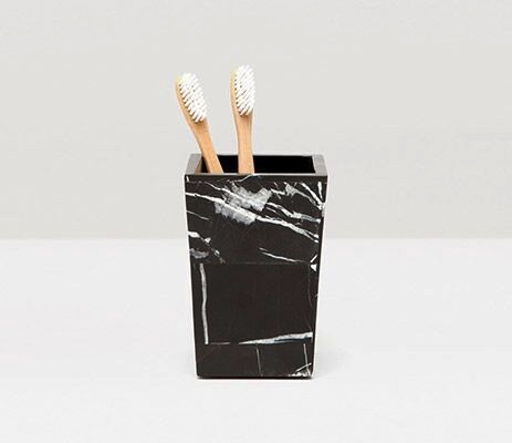 RHODES - Brush Holder -  Nero Marble