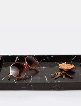 RHODES - Large Tray - Nero Marble