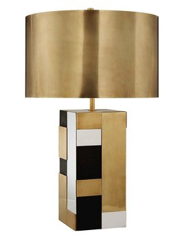 Kelly Wearstler Kelly Wearstler - Bloque Table Lamp - Brass, Bronze and Polished Nickel