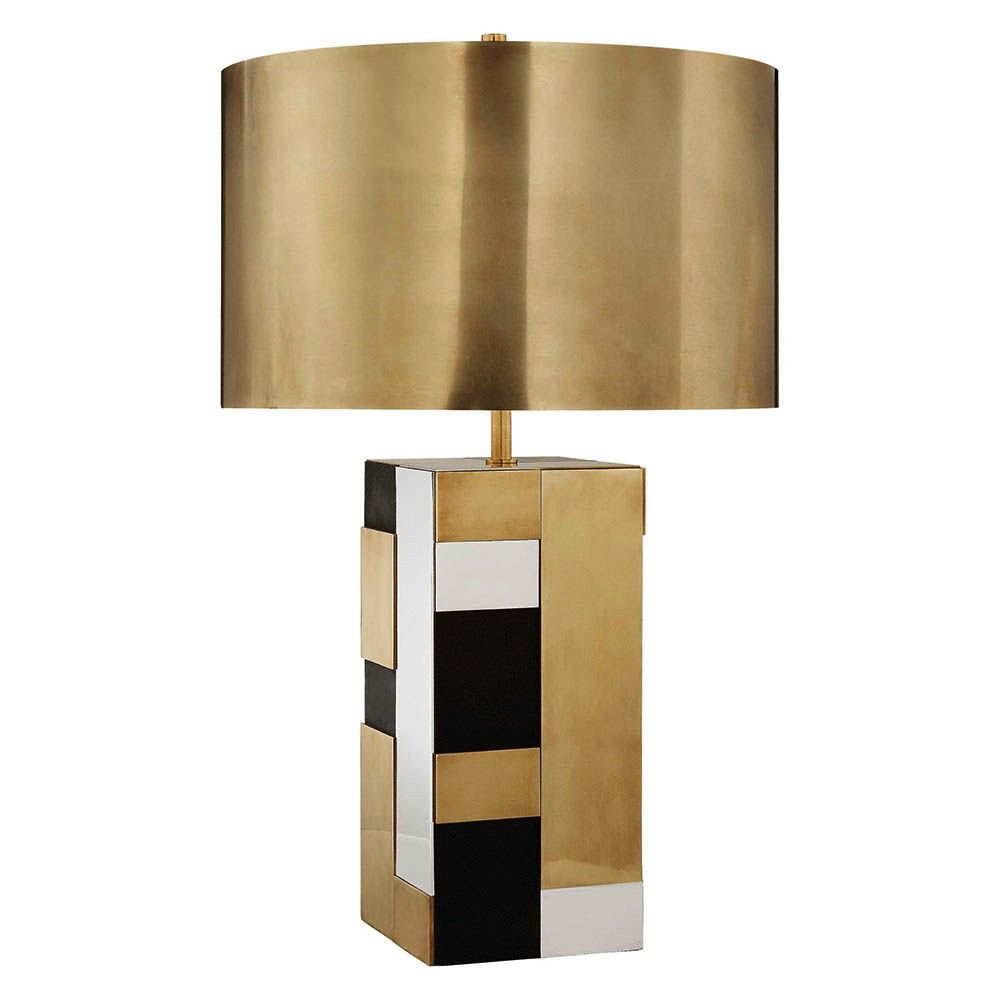Kelly Wearstler Kelly Wearstler - Bloque Table Lamp - Brass, Bronze and Polished Nickel