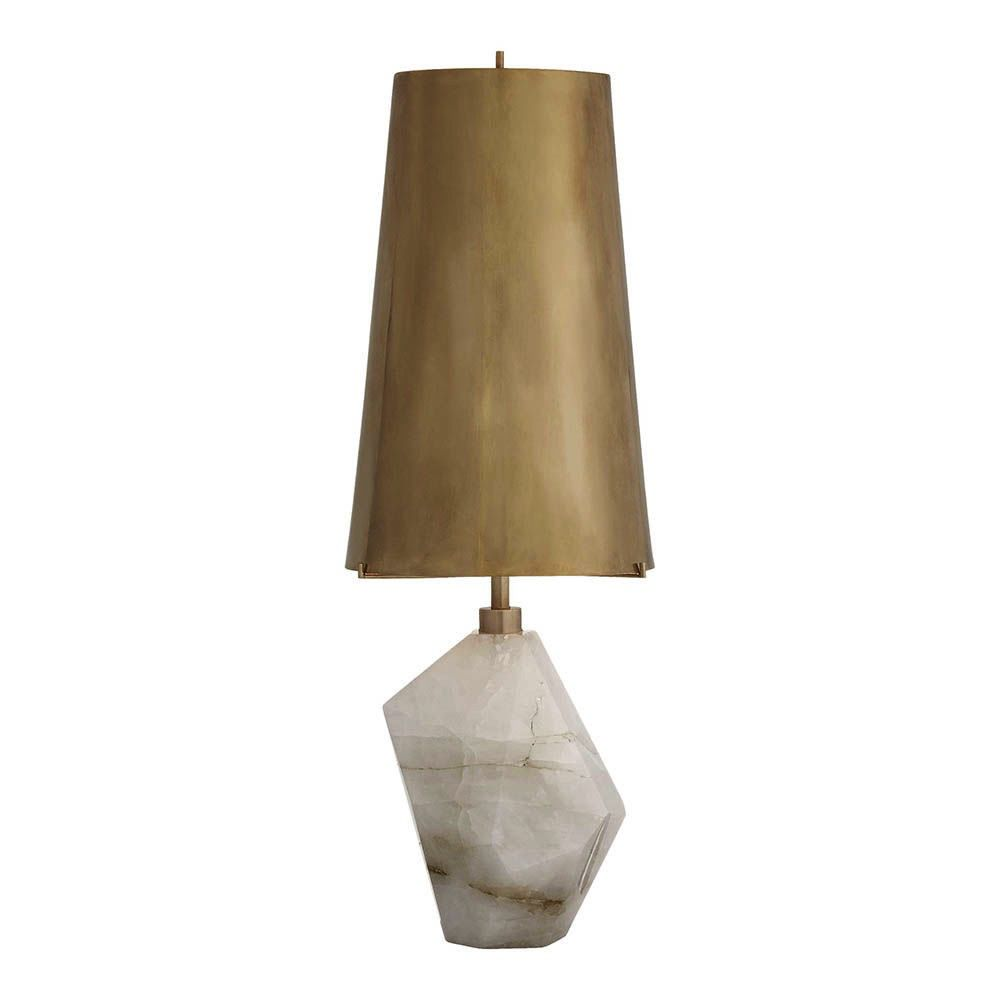 Kelly Wearstler Kelly Wearstler - Halcyon Accent Lamp - Quartz and Antiqued Brass