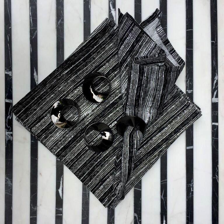 vanity BECKER MINTY - Gunmetal  Napking Rings - Set of four