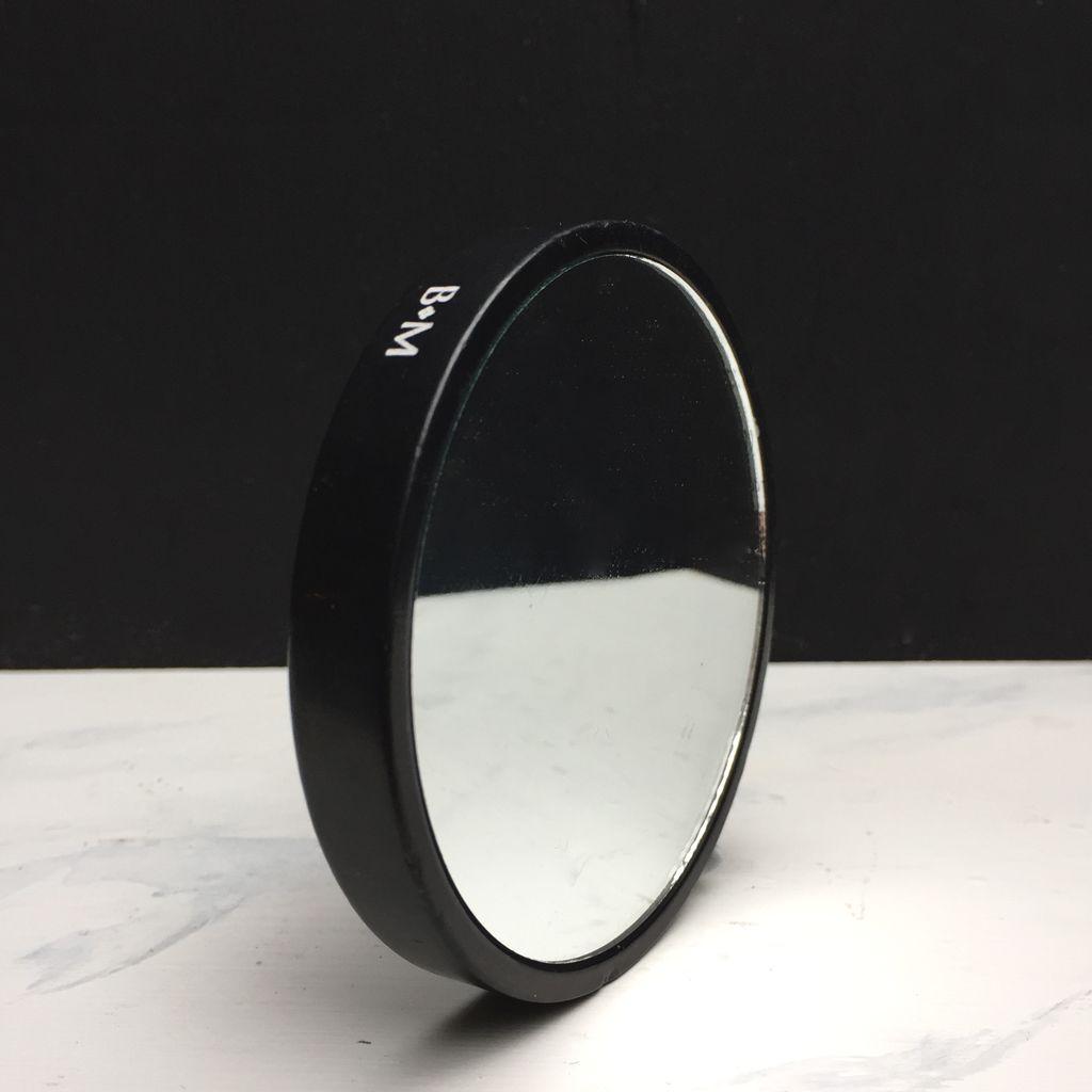 BECKER MINTY BECKER MINTY - DIETER Hand Mirror - Round - Black Marble - D8.5cm