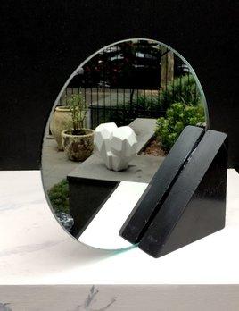BECKER MINTY BECKER MINTY - DIETER Bathroom Mirror - Black Marble H15xW15cm