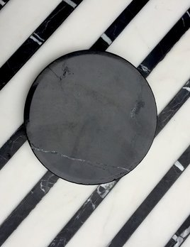 BECKER MINTY BECKER MINTY - DIETER Round Concave Catch-all - Small - Black Marble - D13.5xH2cm