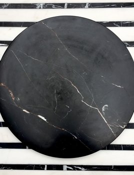 BECKER MINTY BECKER MINTY - DIETER Round Concave Catch-all Tray - Large - Black Marble - D35xH2cm