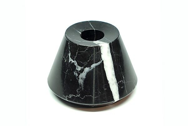 BECKER MINTY BECKER MINTY - DIETER Candle Trio - Black Marble Candle Holder H16, 6 & 4cm