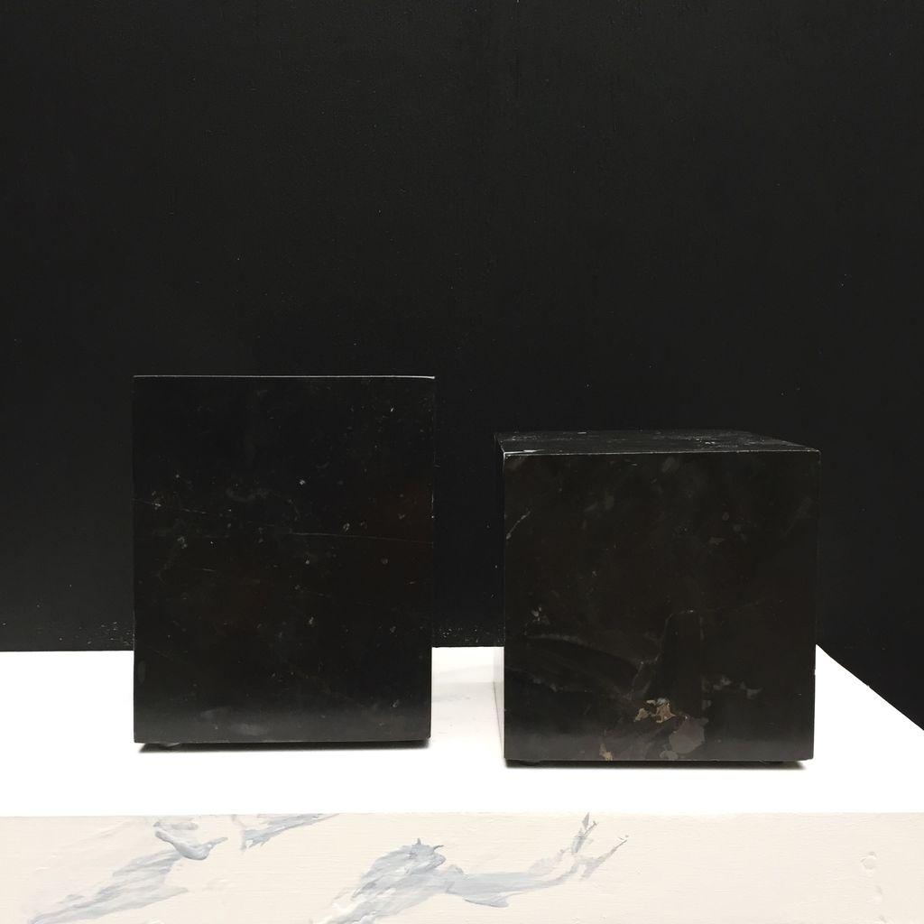 BECKER MINTY BECKER MINTY - DIETER  Bookends - Black Marble - 12x12x12cm & 16x12x12cm