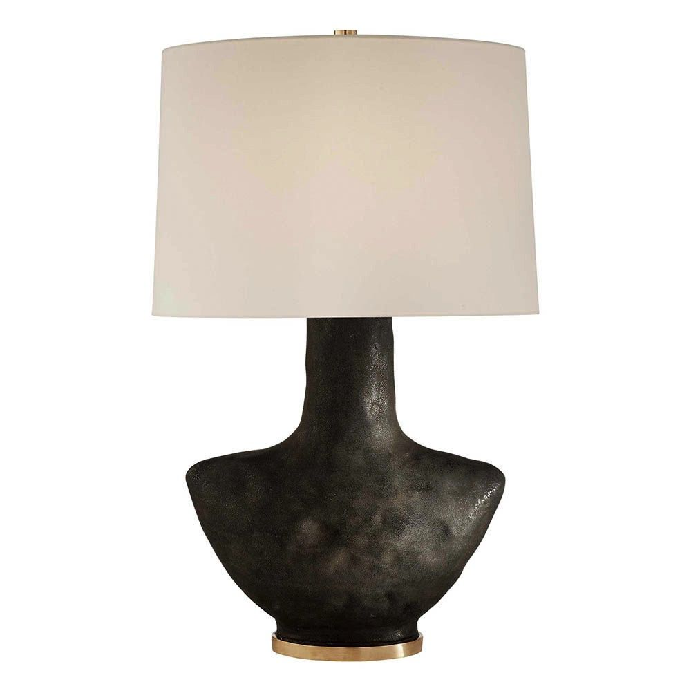 Kelly Wearstler Kelly Wearstler - Armato Table Lamp - Black Ceramic with Oval Linen Shade