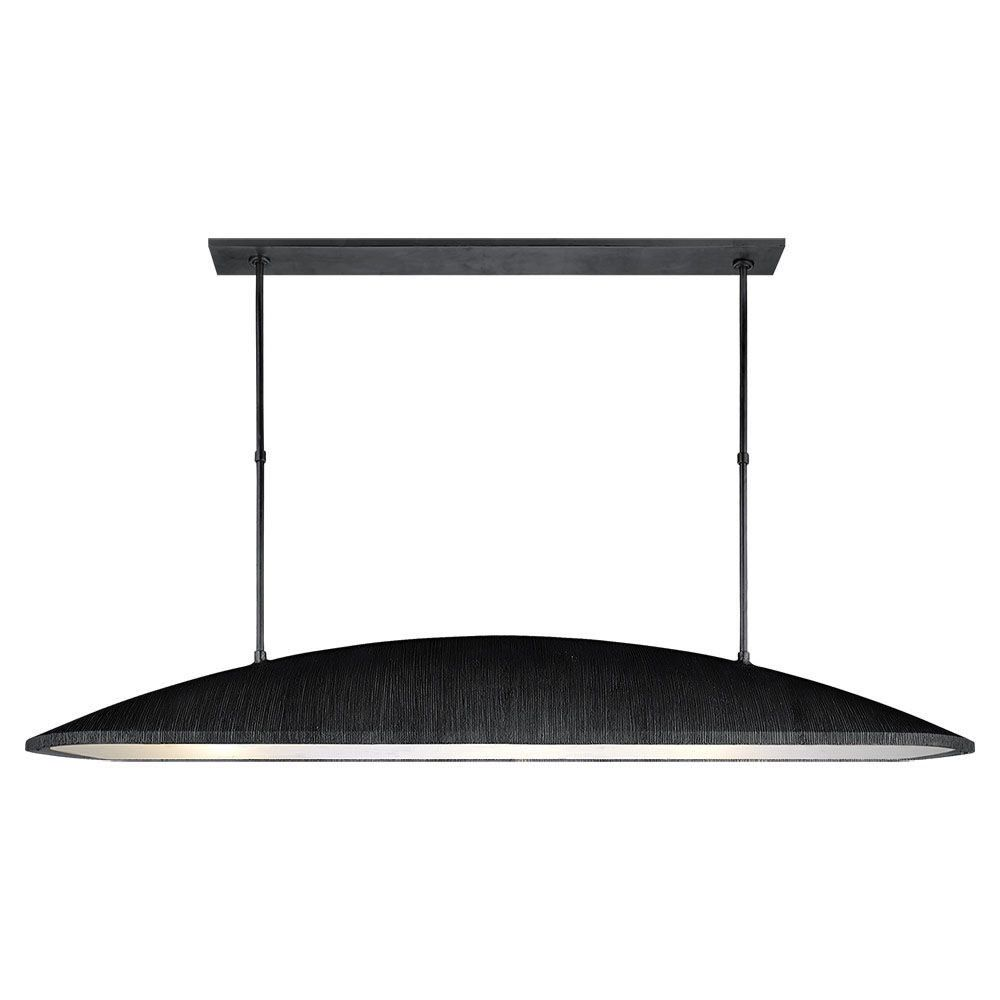 Kelly Wearstler Kelly Wearstler - Utopia Large Linear Pendant in Aged Iron with Frosted Acrylic - Height: 31.5""