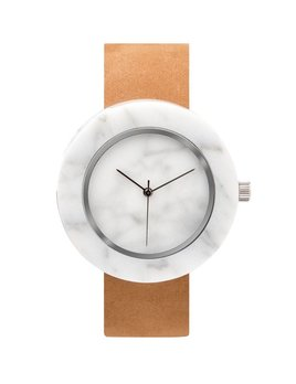 Analog Watch Co Analog Watch Co - Mason - White Marble with Circular Body