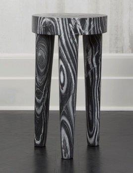 Kelly Wearstler Kelly Wearstler - Tall Tribute Side Table - Grey Rainbow marble  - H72cmx D41cm