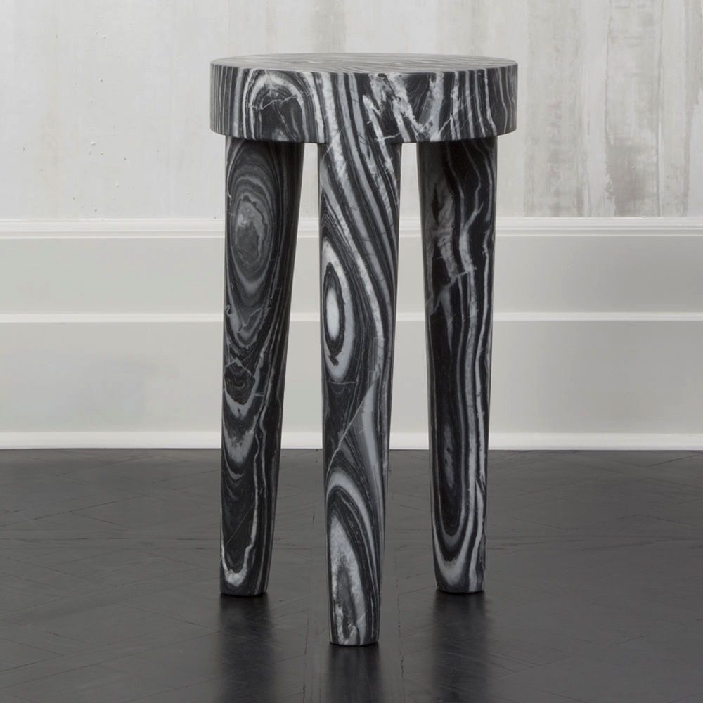 Kelly Wearstler Kelly Wearstler - Tall Tribute Side Table - Grey Rainbow marble  - H72cmx D41cm