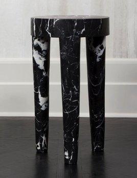 Kelly Wearstler Kelly Wearstler - Tall Tribute Side Table - Negro Marquina Marble  - H72cmx D41cm