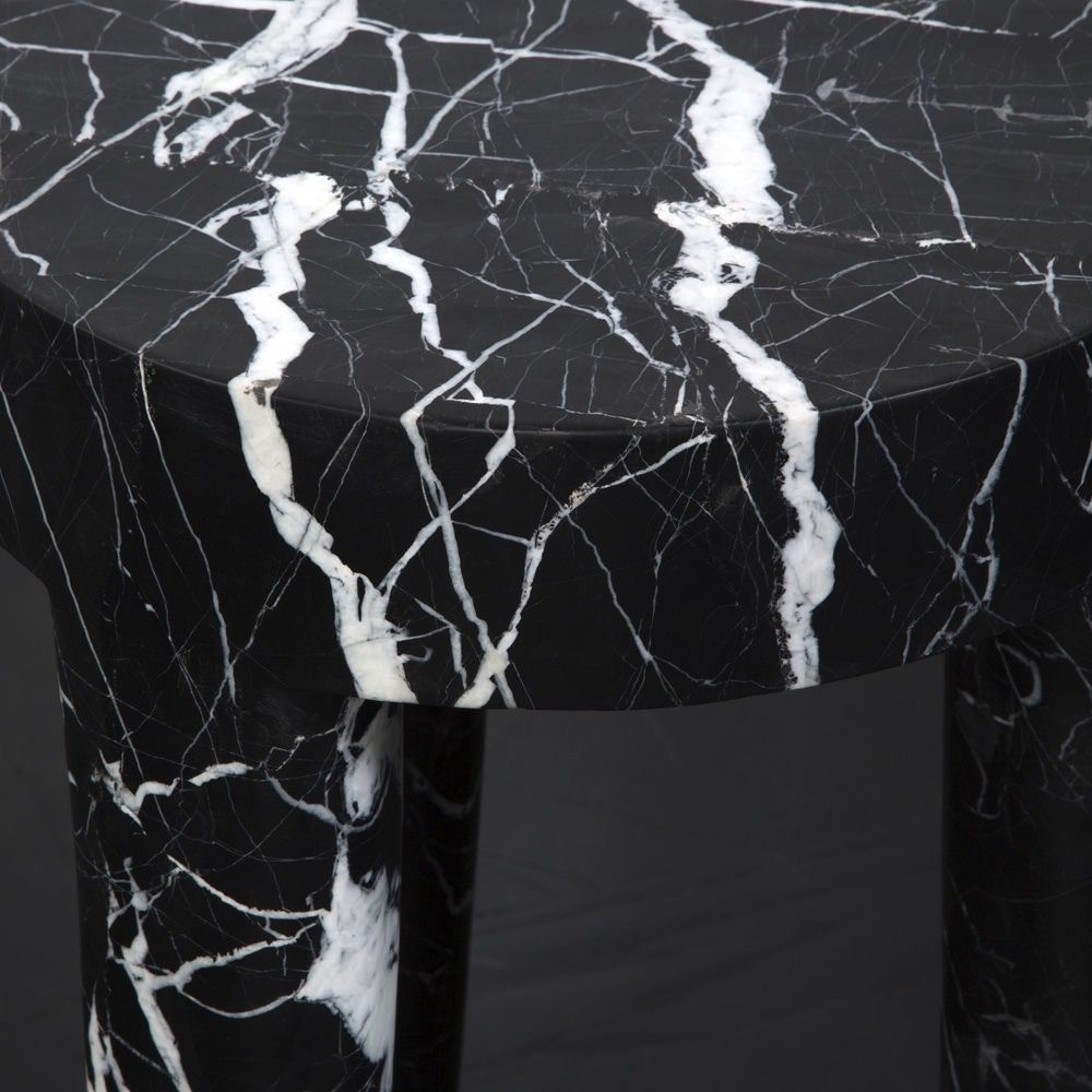 Kelly Wearstler Kelly Wearstler - Tall Tribute Side Table - Negro Marquina Marble  - H72cmx D41cm