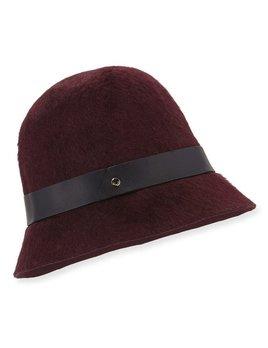 Inverni Inverni - Felt Cloch Hat - 100% Rabbit with leather trim - Made In Italy