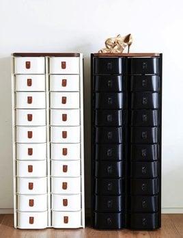 Sagitine Wardrobe Care - The New York - Medium Shoe Storage Stand  - 20 pairs - W52xH130xD34cm