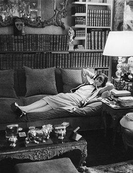 Mark Shaw Photography - Coco Chanel Lying on Divan