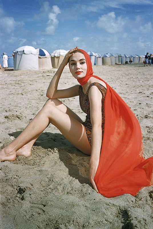 Mark Shaw Photography - Orange Scarf on Beach
