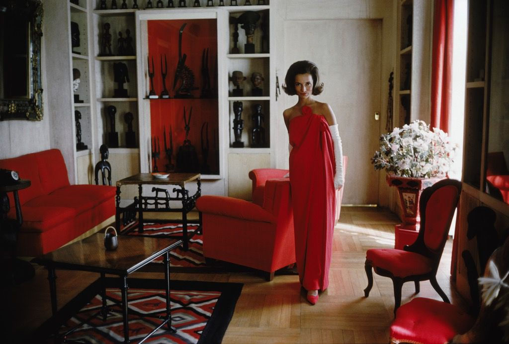 Mark Shaw Photography - Lee Radziwill Red Gown