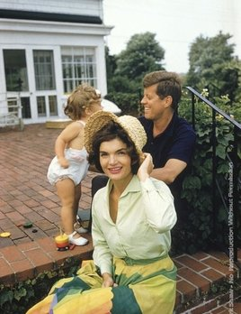Mark Shaw Photography - Jackie, JFK, Caroline, Hyannis Patio, Colorful Skirt