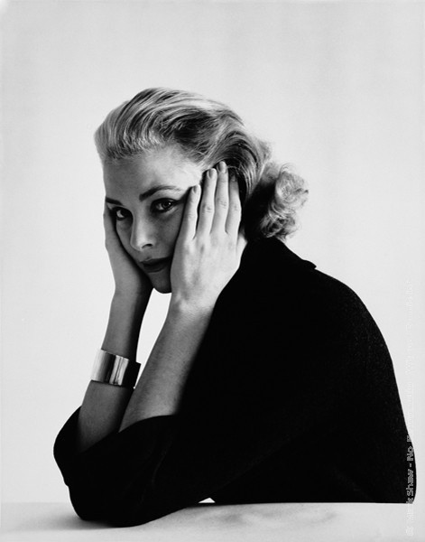 Mark Shaw Photography - Grace Kelly, Head Resting in Hands