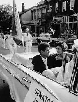 Mark Shaw Photography - Jackie and JFK in Campaign Car