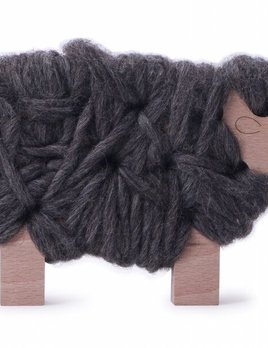 Les jouets Libres Woody - The Sheep - To be Knitted - Light Brown