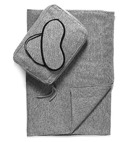 BECKER MINTY Pure Cashmere Romagna 2 Ply Jersey Knit Travel Set - Light Grey