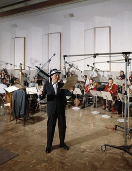 Frank Sinatra at a Capitol Records recording session in Los Angeles c1960 - Sid Avery