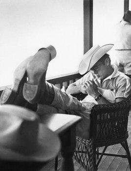 "James Dean on location for ""Giant"" in Marfa, Texas 1955 - Sid Avery"